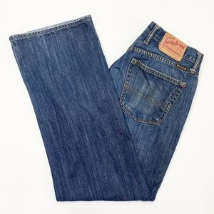 Lucky Brand Mens 181 Relaxed Straight Blue Jeans